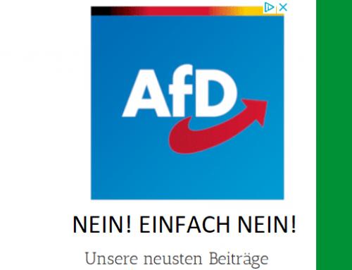 AfD-Werbung auf unserer Seite? Nein! Einfach NEIN!